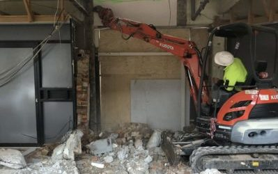 Demolishing a stairwell