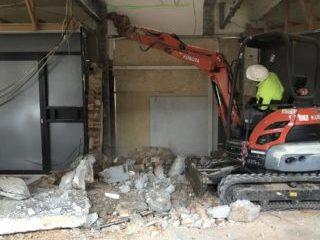 Demolishing a stairwell