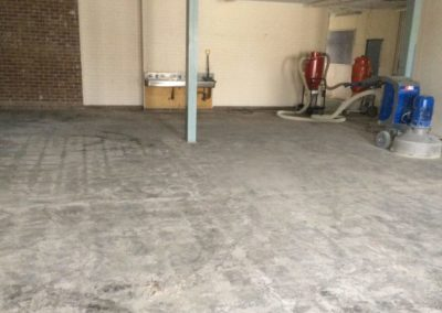 grinding the floor of a college in keysborough